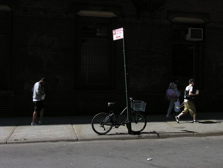 10 a.m., morning on Prince Street, SoHo, New York