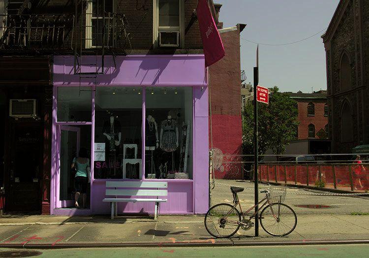 pink, in Nolita, New York