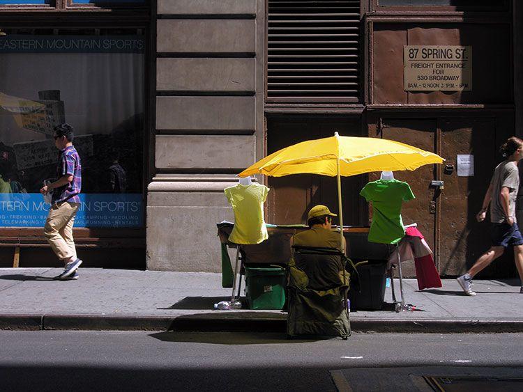 shopping street, Spring St., New York