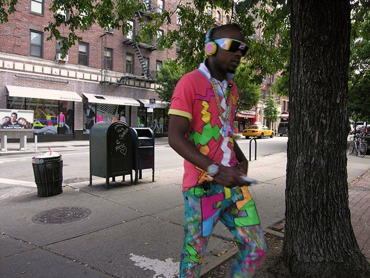color, man, New York