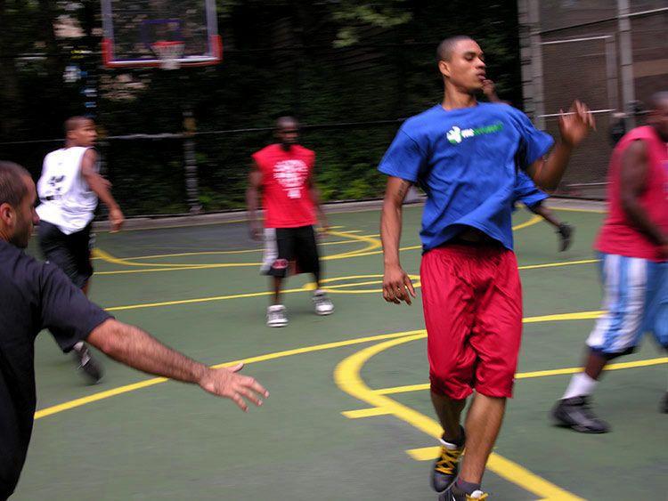 men, no ball, New York
