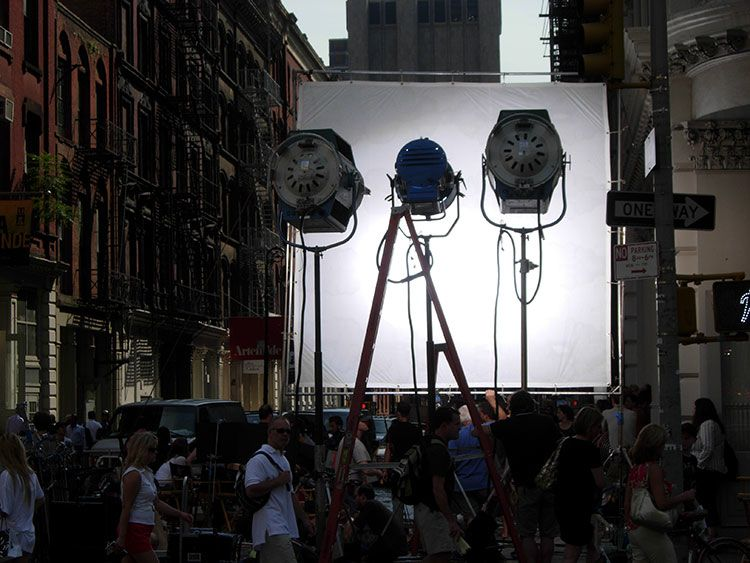"""chaos of movie making, """"the can do people"""", New York"""