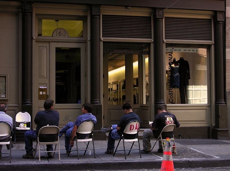 men, at work, New York