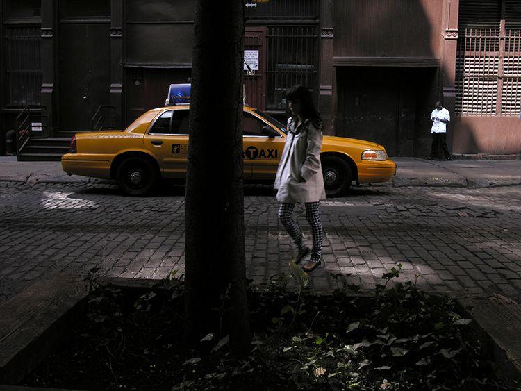 black, white, New York