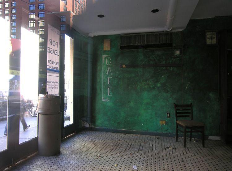 cafe, terminée, New York