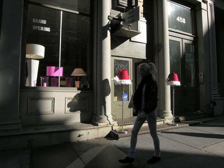 light, heads, New York
