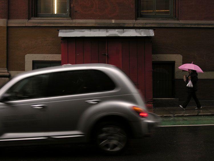 wet, sidewalks, New York