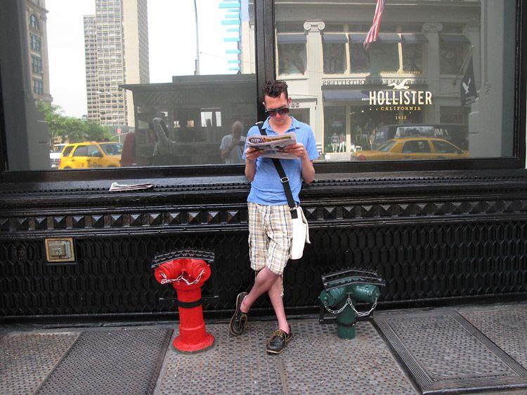 news, stand, New York