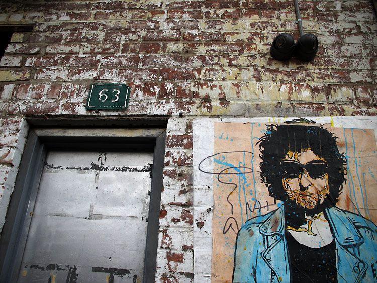 door, man, New York