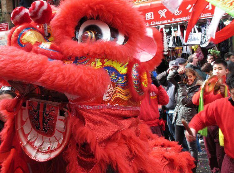 dragon, dances (Chinese New Year), New York