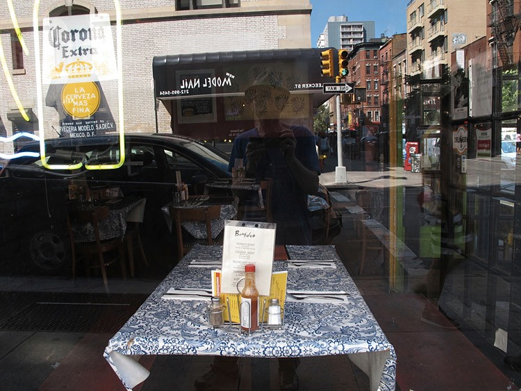 table, cloth, New York