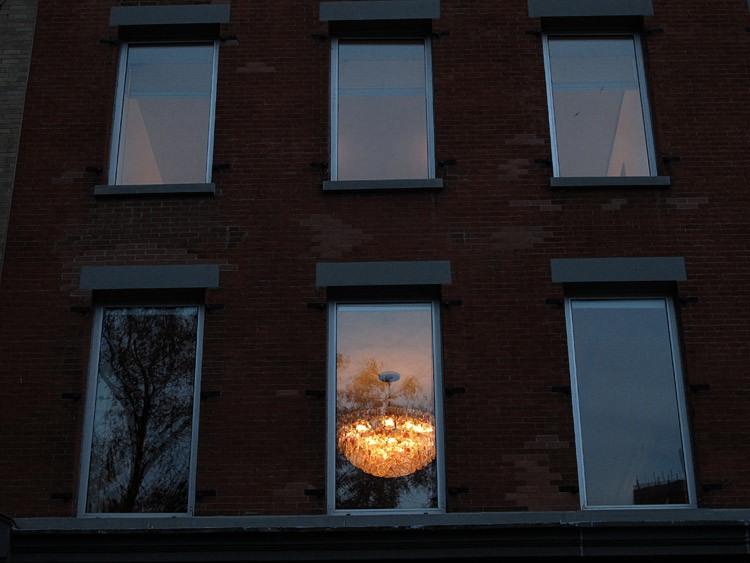 dusk, windows, New York