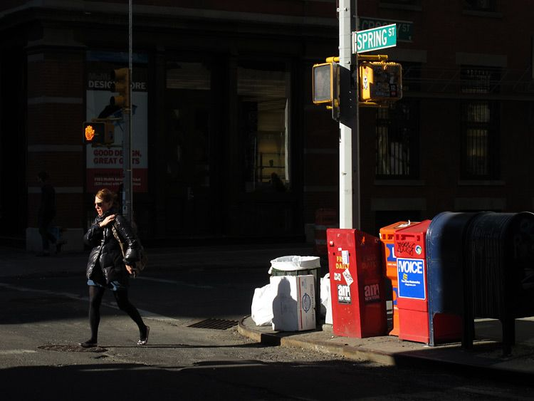 street, light, New York