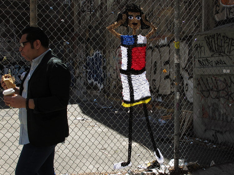 knit, fence, New York