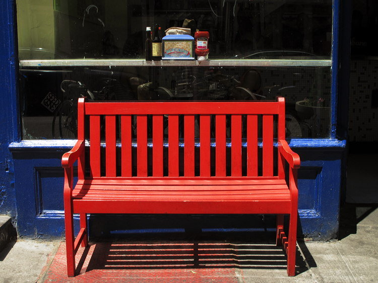 blue, red, New York