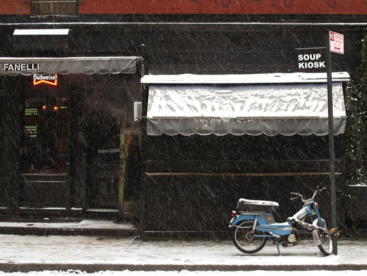 snow, fall, New York