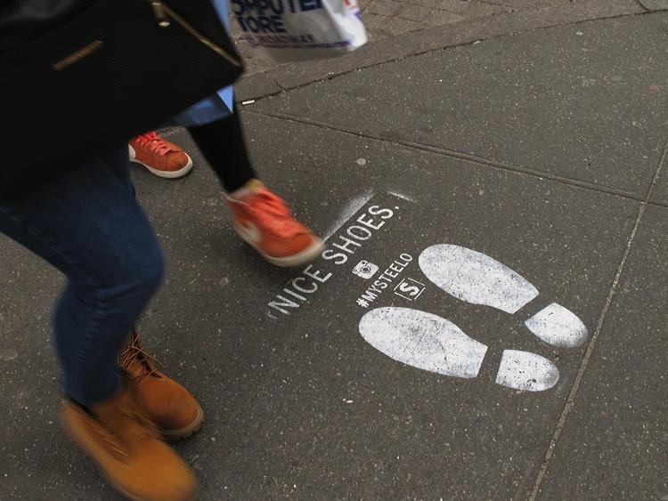 foot, print, New York