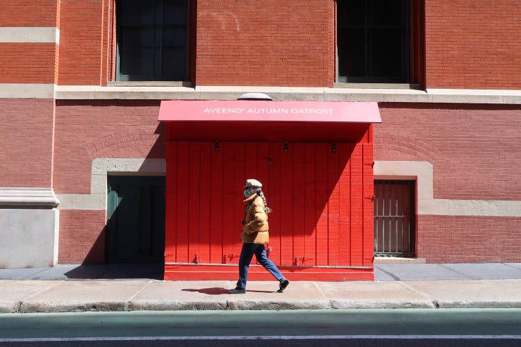 red, orange, New York