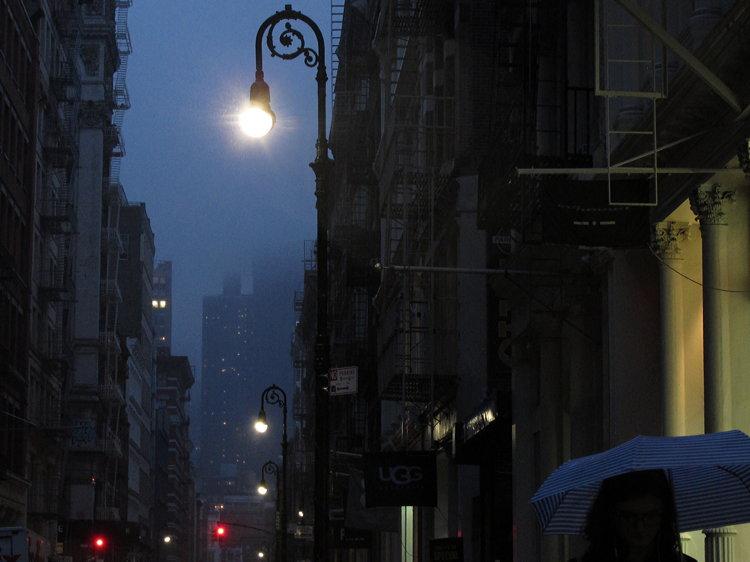 80%, rain, New York