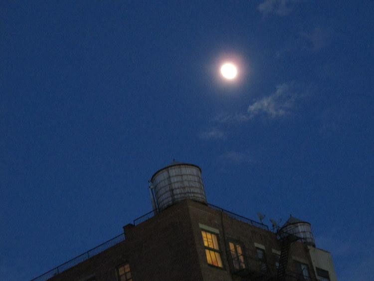 over, moon, New York