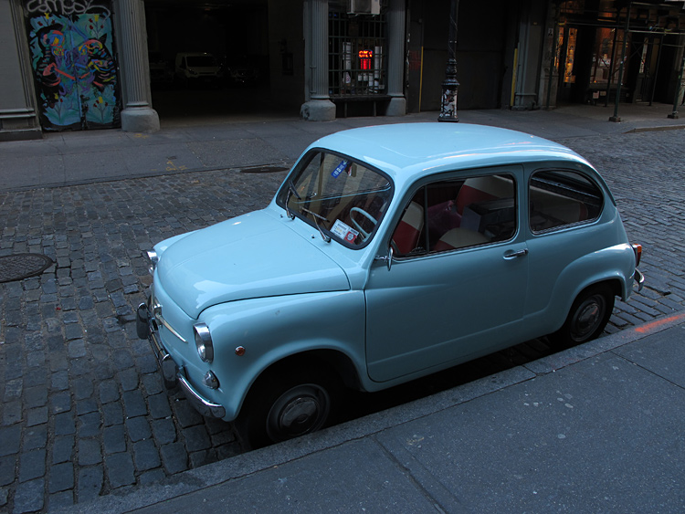 New York Fiat Cinquecento city car