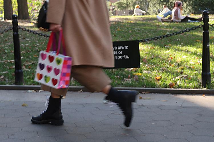 New York bag of hearts