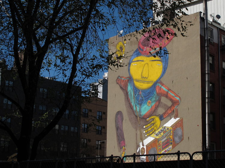 New York on the wall