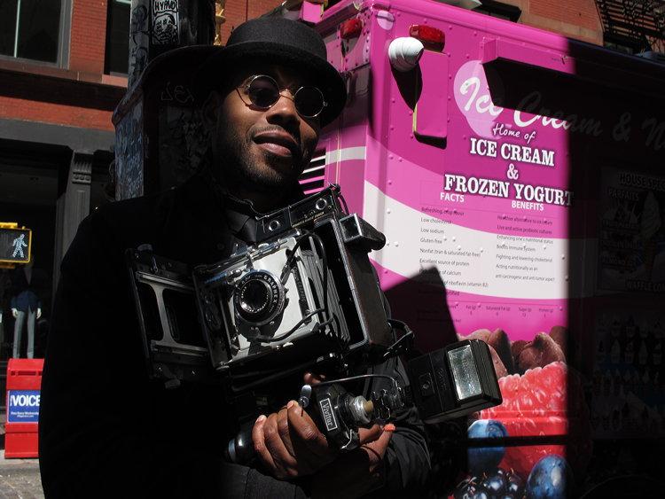 New York Mr. Crown Graphic Soho street photography