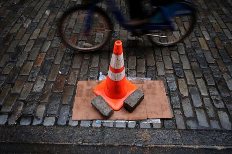 New York set on stone